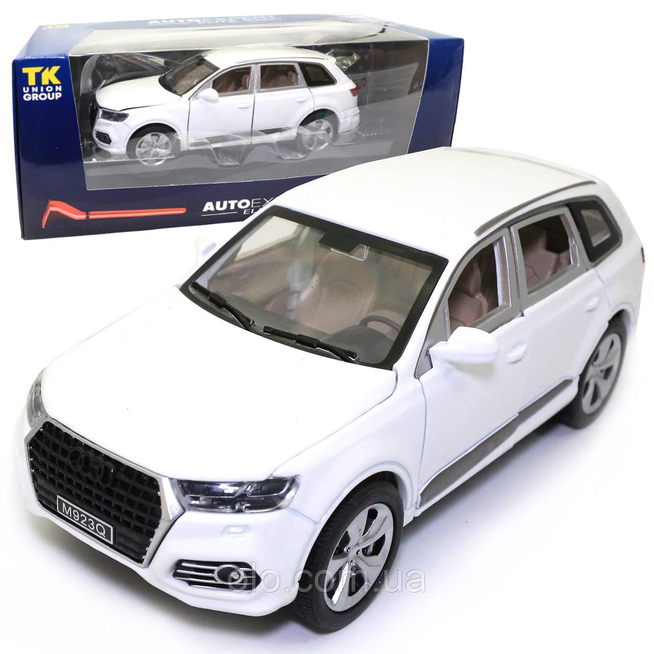 Машинка металлическая Audi «AutoExpert» Ауди джип белый свет звук 19*7*9 см (EL-5263)