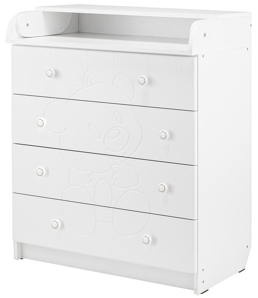 Пеленальний комод Babyroom Комод Ведмежа 102x80x50 білий