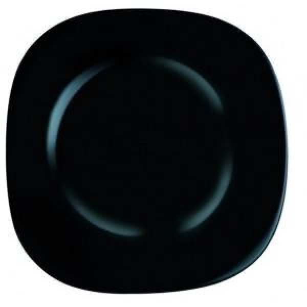 Carine Black Тарелка обеденная квадратная 26 см Luminarc L9817