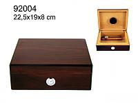 Хьюмидор 92004 для 12 сигар темно-красный 22,5х19х8см