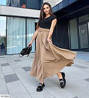 Длинная женская красивая юбка в пол расклешенная пышная из ткани костюмка р-ры 42-44,46-48 арт 954