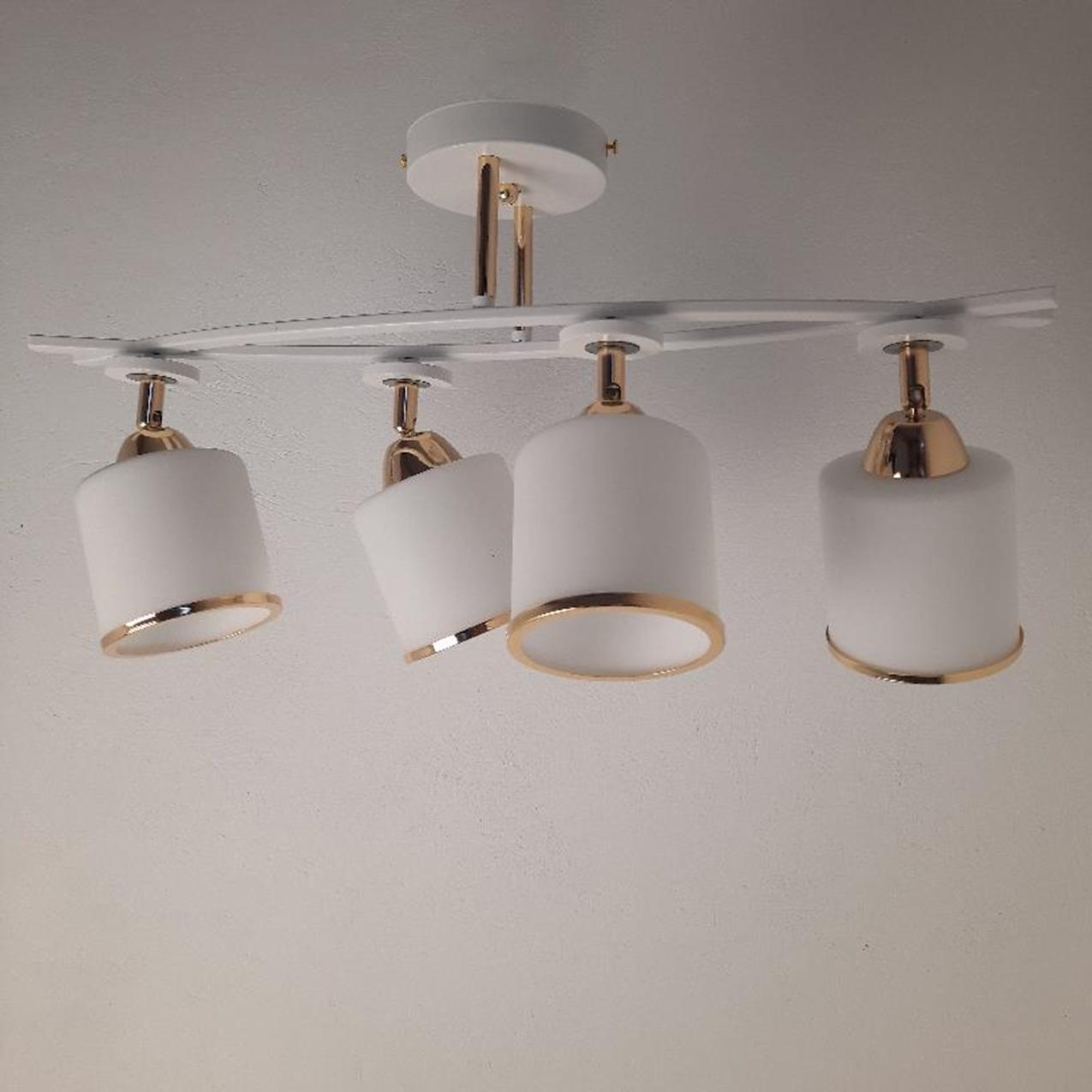 Люстра потолочная на 4 лампы 3-A2445/4 WT+FG