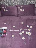 Комплект постільної білизни Велюровий однотонний Сірого кольору євро розмір, фото 8