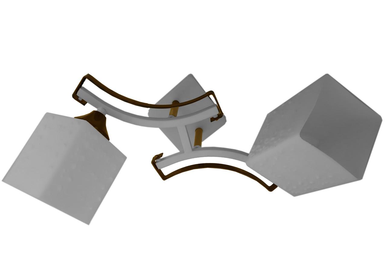 Люстра потолочная на две лампы 3-A2534/2 WT+AN