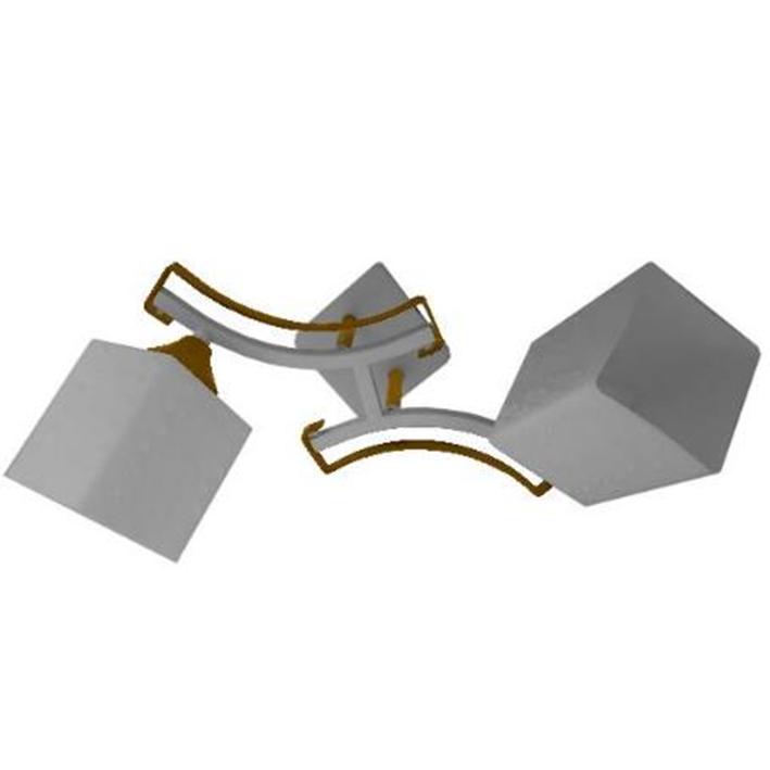 Люстра стельова на дві лампи 3-A2534/2 WT+FG