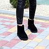 Натуральная замша черные замшевые женские низкие угги зимняя классика, фото 3