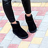 Натуральная замша черные замшевые женские низкие угги зимняя классика, фото 8