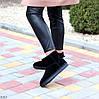 Натуральная замша черные замшевые женские низкие угги зимняя классика, фото 5