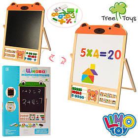 Деревянная игрушка Досточка MD 1028 (20шт) 2в1(магнитная,для рисов),счеты, в кор,36-49,5-2,5см