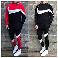 Зимний спортивный костюм на флисе Nike утепленный. Тёплый спортивный костюм Найк.Свитшот и штаны на флисе Nike