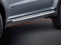 Пороги боковые оригинал в BMW Style для SsangYong Actyon 2 (2010-13)
