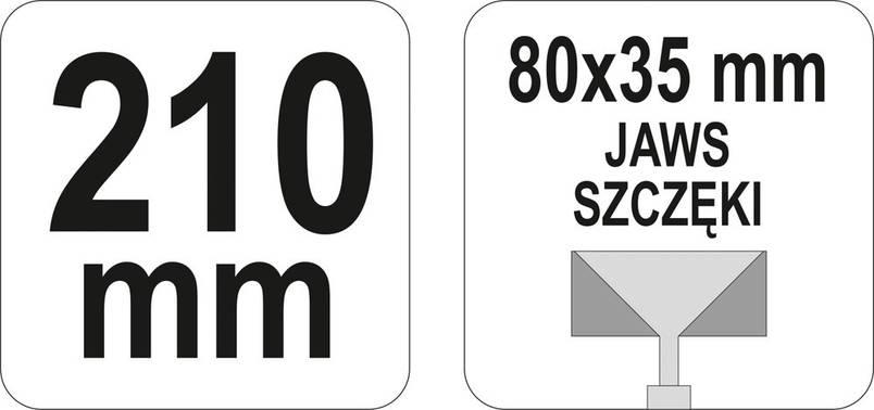 Щипцы YATO для формирования профилей 210 мм, фото 2