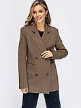 Подовжений двобортний піджак приталеного силуету, фото 6