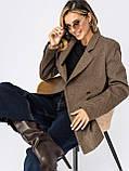 Подовжений двобортний піджак приталеного силуету, фото 7
