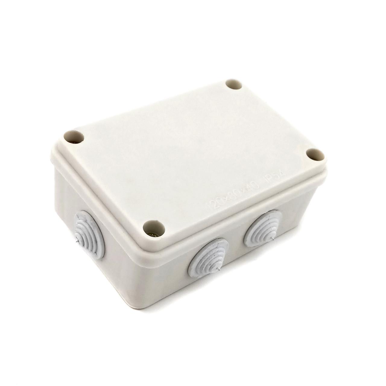Распределительная коробка 120х80х50 IP54 с резинками