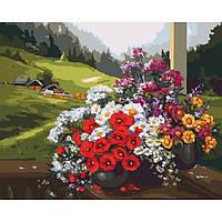Картина по номерах Сільський пейзаж Рідний край 40*50 см