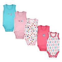 Детские летние бодики для девочки   6-9 месяцев