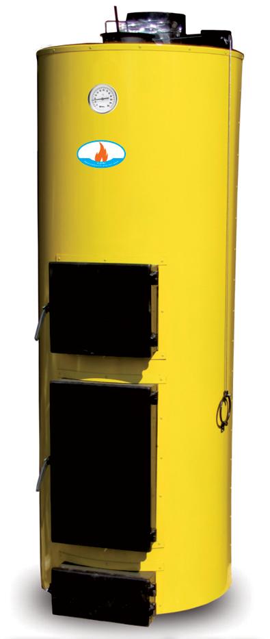 Котел БУРАН NEW 40 кВт ГВС на дровах и отходах (2 контура)