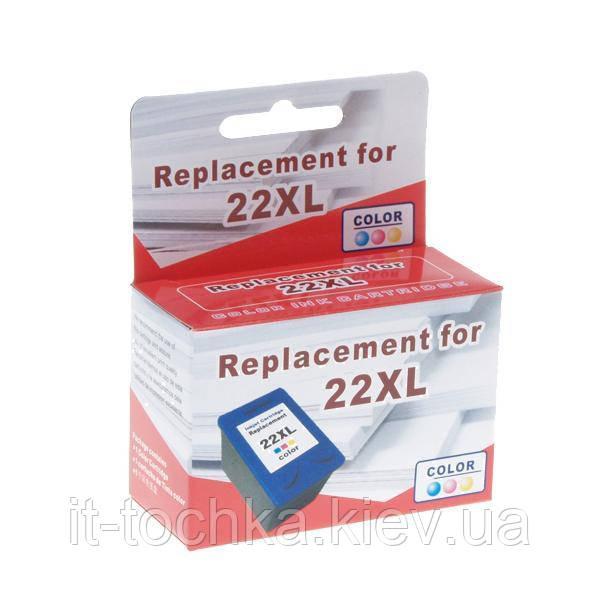 Цветной картридж microjet hc-e02x для hp dj 3920/f4200/f5200  hp 22xl color повышенной емкости