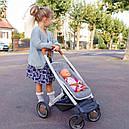Коляска для куклы 3 в 1 со съемной люлькой серая Maxi-Cosi & Quinny Grey Felt 3 в 1 Smoby 253104, фото 8