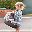 Коляска для куклы 3 в 1 со съемной люлькой серая Maxi-Cosi & Quinny Grey Felt 3 в 1 Smoby 253104, фото 10