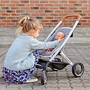 Коляска для куклы 3 в 1 со съемной люлькой серая Maxi-Cosi & Quinny Grey Felt 3 в 1 Smoby 253104, фото 9