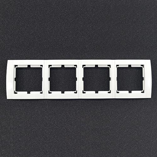 Рамка четвірна універсальна Yaweitai YW-2524 Біла