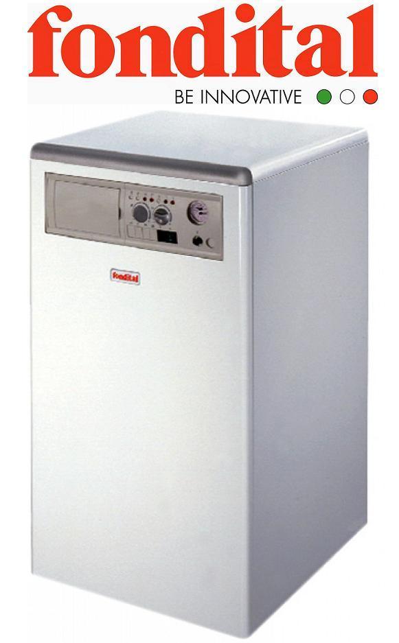 Напольный газовый котел с чугунным теплообменником Fondital Bali 99 E одноконтурный, дымоходный (Италия)