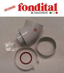 Коаксиальное колено ø 100/60 мм, 45 град. (для настенных TFS и Bali TFS) Fondital