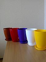 Горшок для цветов Глянец (высокий) d-15,h-19см,v-2,3л (красный)