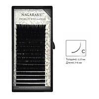 Ресницы черные изгиб C 0.07 Mix (7-15) Nagaraku