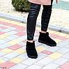 Ультра низькі чорні замшеві жіночі низькі уггі натуральна замша, фото 4