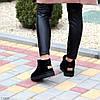 Ультра низькі чорні замшеві жіночі низькі уггі натуральна замша, фото 5
