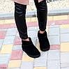 Ультра низькі чорні замшеві жіночі низькі уггі натуральна замша, фото 8