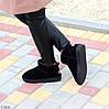 Ультра низькі чорні замшеві жіночі низькі уггі натуральна замша, фото 10
