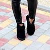 Ультра низькі чорні замшеві жіночі низькі уггі натуральна замша, фото 7