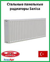 Стальной радиатор Sanica 22k 300*1500 б.п.