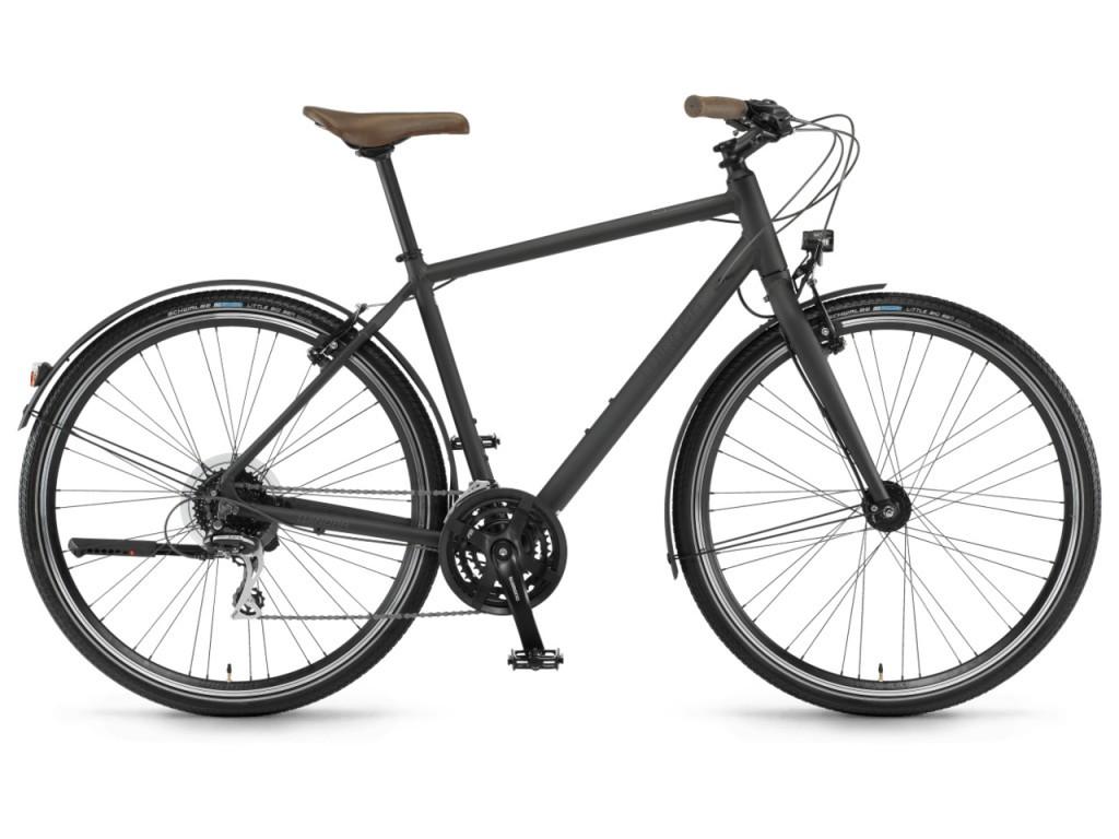 "Велосипед Winora Flitzer men 28"" 24-G Acera, рама 56 см , чорний матовий, 2021"