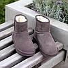 Модні низькі бежеві мокко замшеві жіночі низькі уггі натуральна замша, фото 8