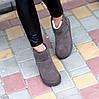 Модні низькі бежеві мокко замшеві жіночі низькі уггі натуральна замша, фото 5