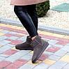 Модні низькі бежеві мокко замшеві жіночі низькі уггі натуральна замша, фото 4