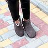 Модні низькі бежеві мокко замшеві жіночі низькі уггі натуральна замша, фото 10