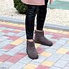 Модні низькі бежеві мокко замшеві жіночі низькі уггі натуральна замша, фото 6