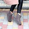 Модні низькі бежеві мокко замшеві жіночі низькі уггі натуральна замша, фото 7