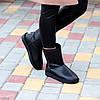Натуральная кожа средние кожаные женские теплые угги зимняя классика, фото 3