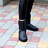 Натуральная кожа средние кожаные женские теплые угги зимняя классика, фото 2