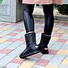 Натуральная кожа средние кожаные женские теплые угги зимняя классика, фото 5