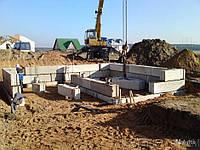 Монтаж фундаментных блоков, фото 1