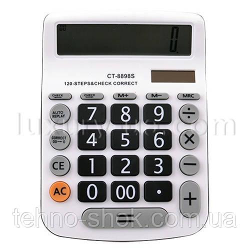 Калькулятор CT-8898S - 12, подвійне живлення