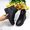Стильні теплі чорні спортивні жіночі черевики кросівки зима 2021, фото 10